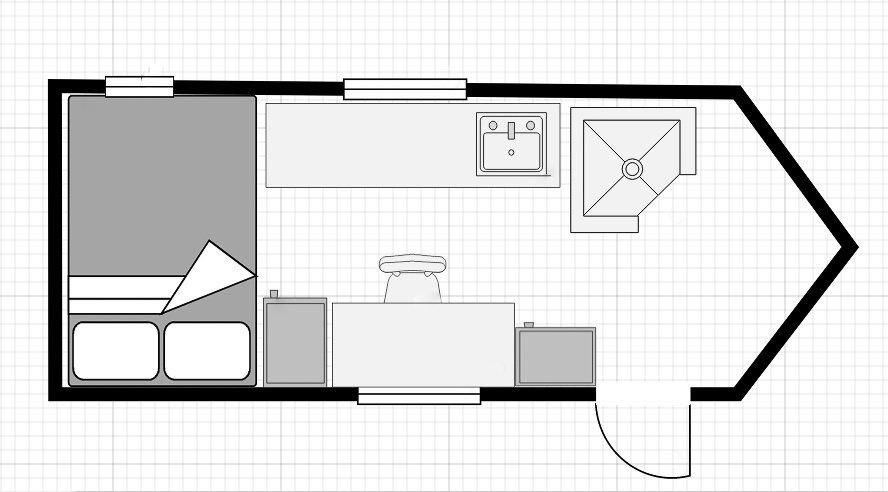 How To Convert A Cargo Trailer Into A Camper Living Tiny With A Wolf